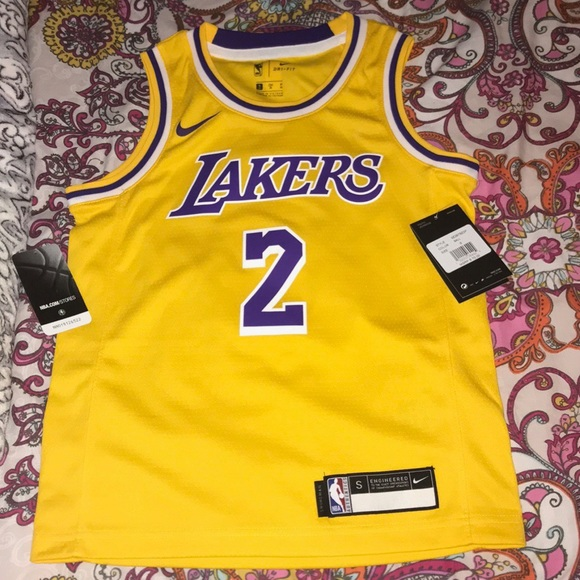the best attitude 50051 d2ed4 Lakers men's youth S Lonzo Ball jersey NWT